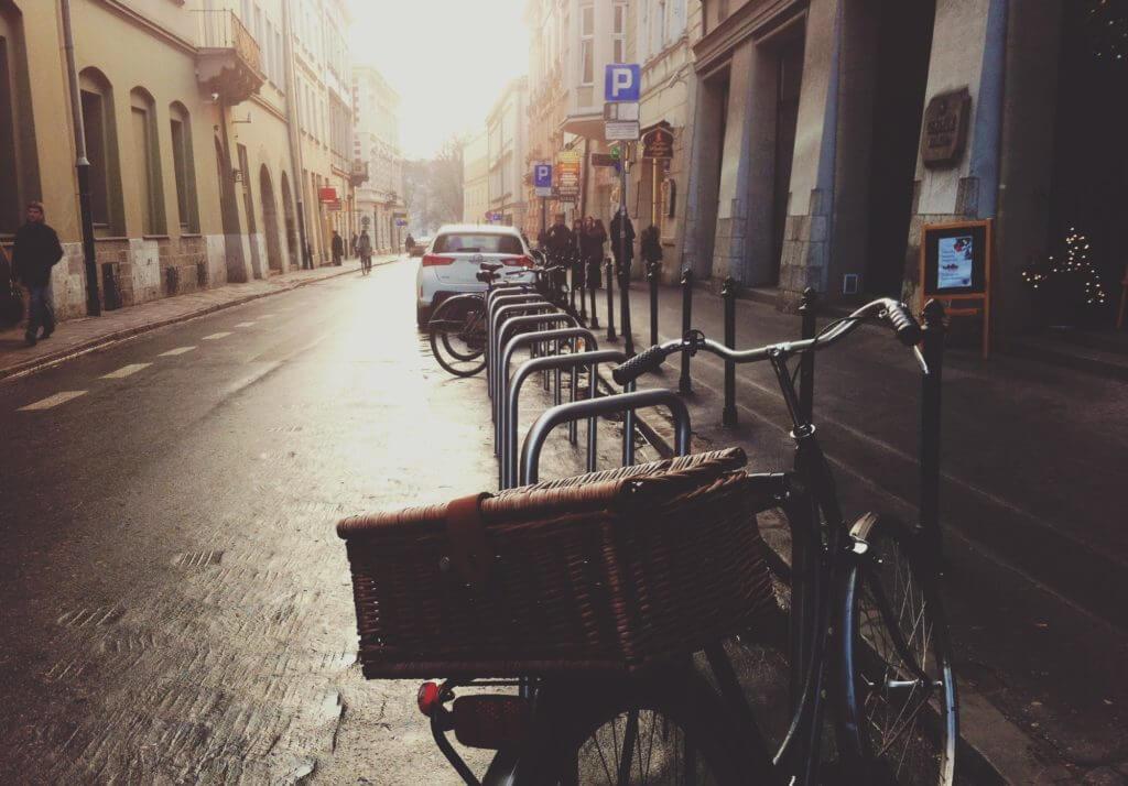 Maaltijdbezorging met fiets