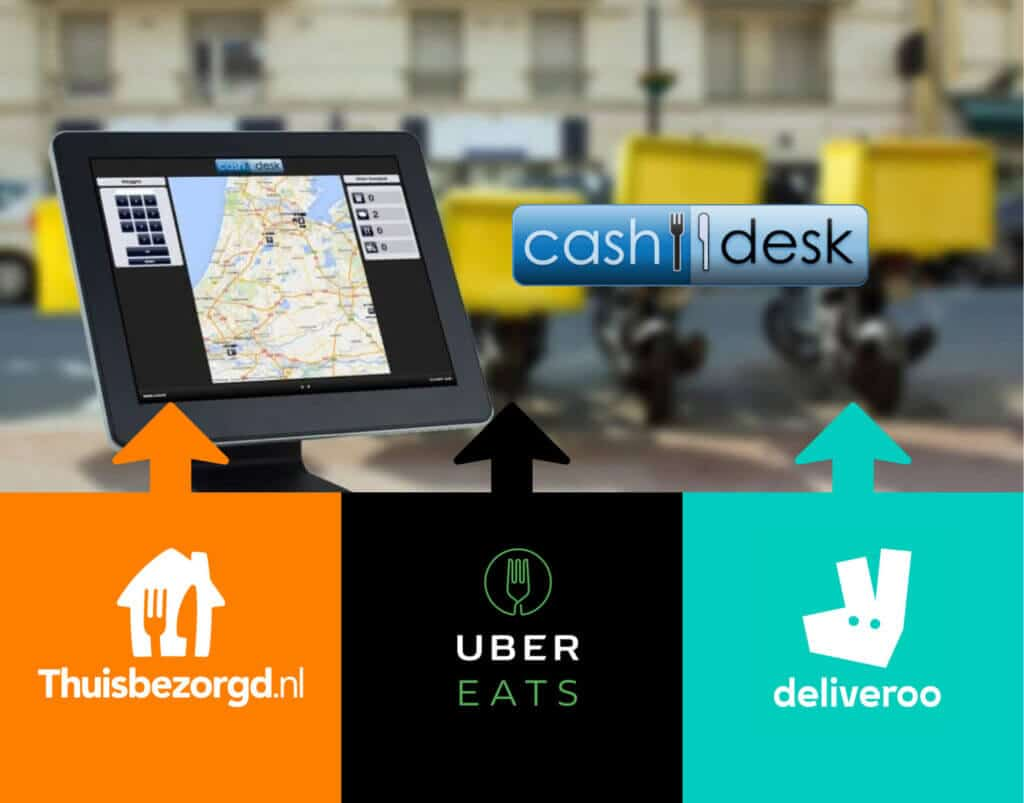 Work with UberEats, Deliveroo and Take Away without a tablet - Cashdesk